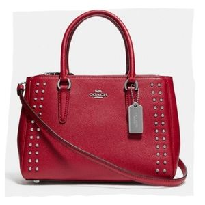 Coach Mini Surrey Carryall with Rivets